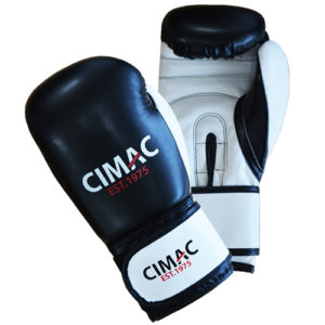 Cimac Junior Artificial Leather Boxing Gloves – Black/White