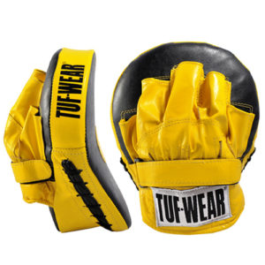 Tuf-Wear Curved Focus Hook and Jab Pads – Yellow/Black