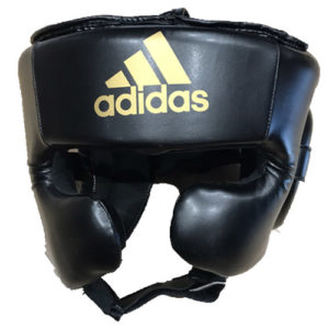 Adidas Speed Super Pro Training Head Guard – Black/Gold