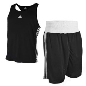 adidas Base Punch II Boxing Vest and Short Set – Black