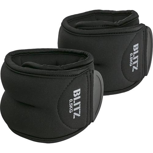 Blitz Ankle Weights – Black [0.5kg, 1kg or 1.5kg]