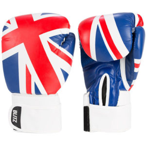 Blitz Kids 10oz UK Boxing Gloves –  Red/White/Blue [Union Jack Flag]