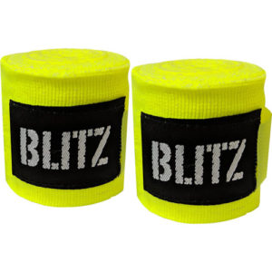 Blitz 120″ Kids/Junior Hand Wraps – Neon Yellow