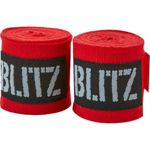 Blitz 180″ Adult Hand Wraps – Red