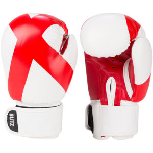Blitz Kids 6oz England Boxing Gloves – Red/White [St George's Flag]