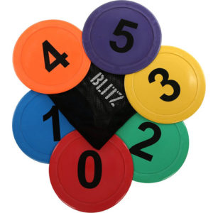 Blitz Sequencing Discs – 6 Multi-Coloured Rubber Discs