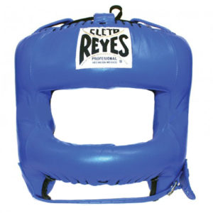 Cleto Reyes Headguard with Rounded Nylon Bar – Blue