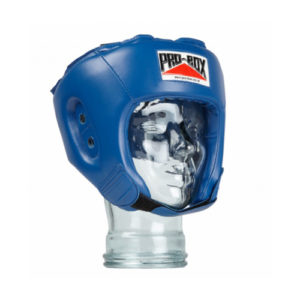 Pro-Box 'Base Spar' Junior PU Headguard – Blue