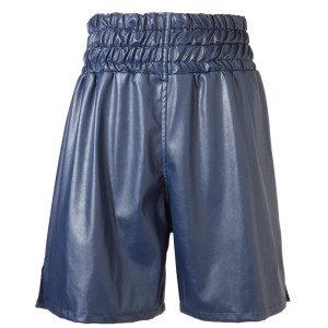 Leatherette Boxing Shorts – Blue