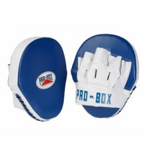 Pro-Box Club Essentials PU Hook & Jab Pads – Blue/White