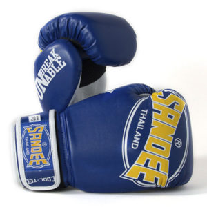 Sandee Junior Cool-Tec Synthetic Leather Boxing Glove – Blue/Yellow/White