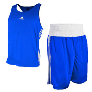 adidas Base Punch II Boxing Vest and Short Set – Blue