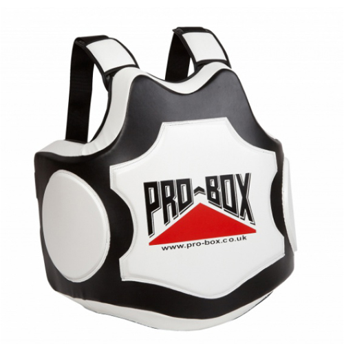 Pro-Box 'Hi-Impact' Coaches Body Protector – Black/White