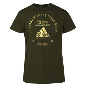 Adidas Boxing T-Shirt Rounded Logo – Khaki Green