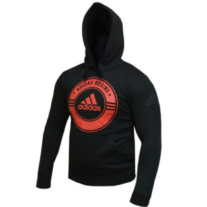 Adidas Boxing Heritage Hoody – Black/Red