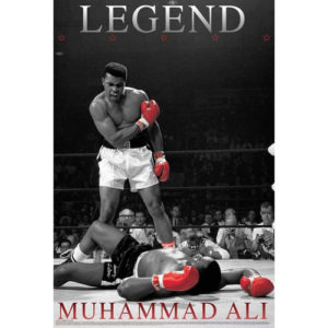 Boxing Legends Muhammad Ali 'LEGEND' Poster – Black/White/Red