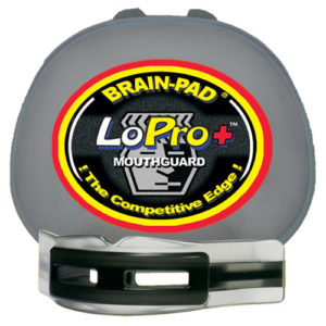 Brain-Pad Lo-Pro+ Plus Junior/Kids Double Mouthguard – Clear/Black