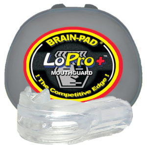 Brain-Pad Lo-Pro+ Plus Junior/Kids Double Mouthguard – Clear/Clear