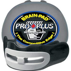 Brain-Pad Pro+ Plus Junior/Kids High Performance Double Mouthguard – Black/Grey