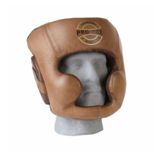 Pro-Box 'Original Collection' Sparring Leather Headguard – Brown