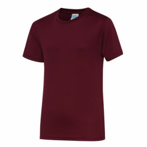 UNBRANDED Junior/Kids Lightweight Cool T-Shirt – Burgundy