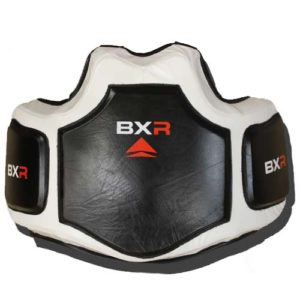 BXR Pro Gel Leather Body Protector – Black/White