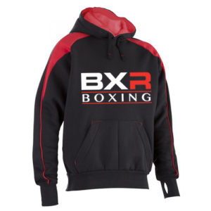 BXR Boxing Premium Pro Hoody – Black/Red