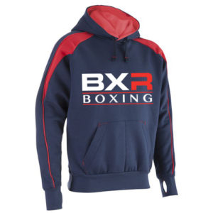 BXR Boxing Premium Pro Hoody – Navy/Red