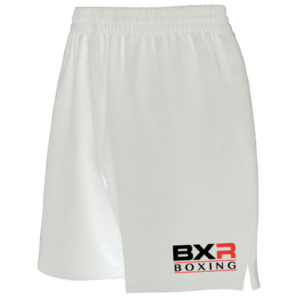 BXR Boxing Lightweight Training Shorts – White [Junior & Adults]