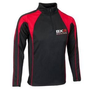 BXR Boxing Pro Half-Zip Midlayer – Black/Red