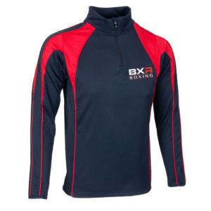 BXR Boxing Pro Half-Zip Midlayer – Navy/Red