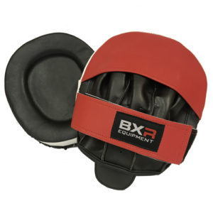 BXR Double Gel Curved Hook and Jab Pads – Red/Black