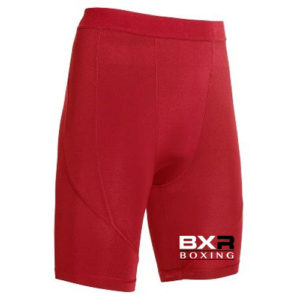 BXR Boxing Base Layer Compression Shorts – Red