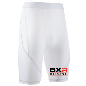 BXR Boxing Base Layer Compression Shorts – White