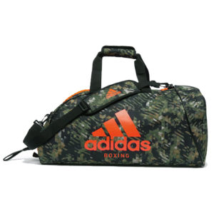Adidas Camo Boxing Holdall/Bag – Camo Green/Orange [Medium or Large]