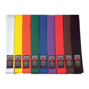 Cimac Martial Arts Coloured Belts
