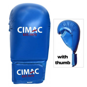 Cimac Competition Karate Mitts With Thumb – Blue