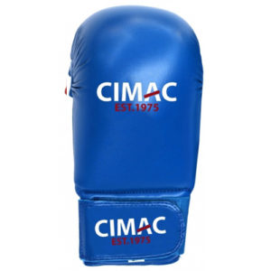 Cimac PU Competition Karate Mitts Without Thumb – Blue