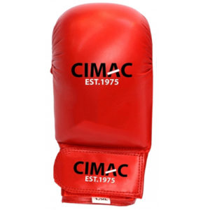 Cimac PU Competition Karate Mitts Without Thumb – Red