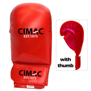 Cimac Competition Karate Mitts With Thumb – Red