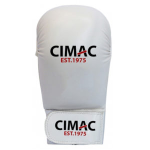 Cimac PU Competition Karate Mitts Without Thumb – White