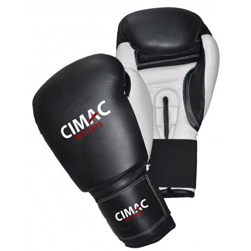 Cimac Leather Boxing Gloves – Black/White