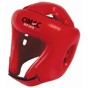 Cimac PU Boxing Head Guard – Red