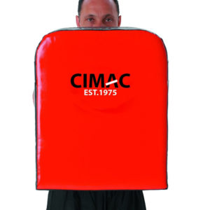 Cimac Large Straight Shield – Red/Black