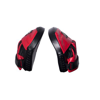 Cleto Reyes Curved Strapped Focus Mitts – Red/Black