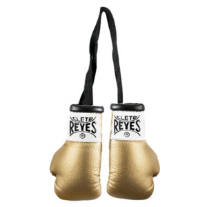 Cleto Reyes Miniature Pair Of Professional Leather Contest Gloves – Gold
