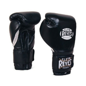 Cleto Reyes Velcro Kids/Junior Sparring Gloves – Black