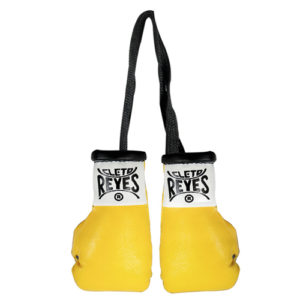 Cleto Reyes Miniature Pair Of Professional Leather Contest Gloves – Yellow