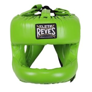 Cleto Reyes Headguard with Rounded Nylon Bar – Lime Green