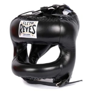 Cleto Reyes Headguard with Rounded Nylon Bar – Black